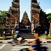 Bali 2015, Pura Puseh Temple Batuan, busy town temple WM