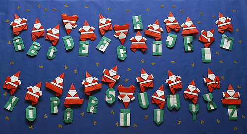 Origami Alphabet-Santa (Tsutomu Nakai) and Origami Alphabet (Andrey Lukyanov)