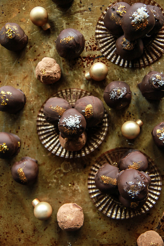 Vegan Crispy Rice Chocolate Caramel Truffles