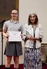 Premio al concurso de poesía Haiku, entregado por María Kodama