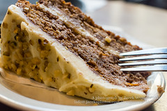 Close Up Of Carrot Cake With A Fork
