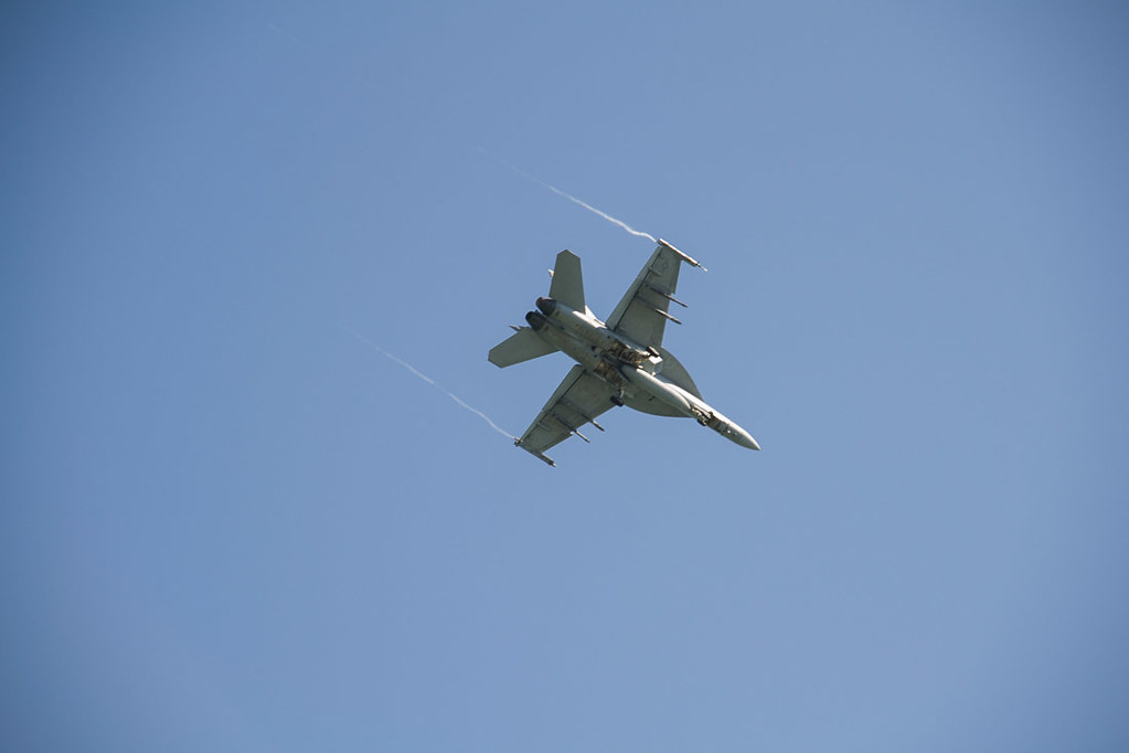 Military Jets flying overhead in Key West