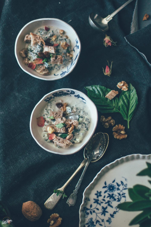 Ab Doogh Khiar | Persian Cold Soup with Yoghurt and Herbs | Zuppa Fredda di Yoghurt alla Persiana | Lab Noon-8