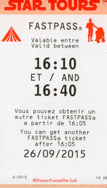 Fastpass for Star Tours