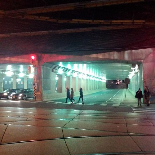 Traversing the underpass #toronto #queenstreetwest #dufferinstreet #underpass