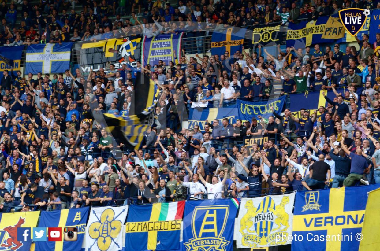 Chievo-Hellas Verona, Curva Sud Inferiore esaurita ...