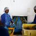 Factory workers producing fresh fruit drinks at Blue Skies, in Nsawan District, Ghana