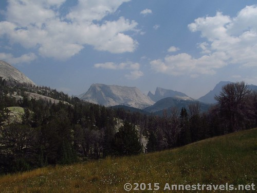 Looking back toward Big Sandy Lake from Jackass Pass, Wind River Range, Wyoming