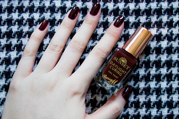 Barry M Sunset Nail Paint in Vengeance is Wine