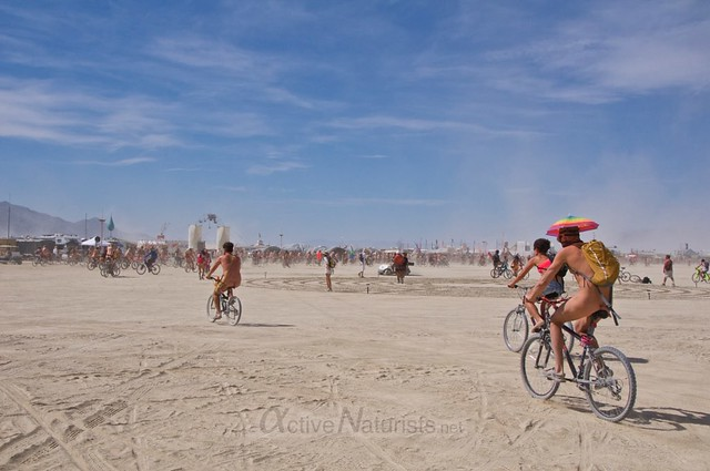 naturist naked pub crawl 0001 Burning Man 2015, Black Rock City, Nevada, USA