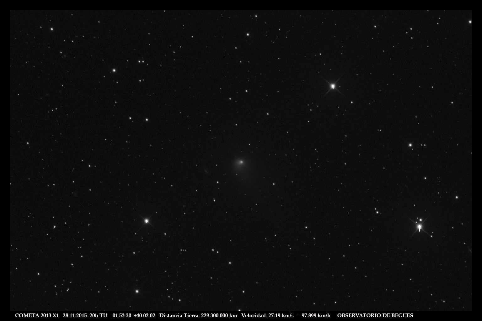 Cometa 2013 X1 28 11 2015