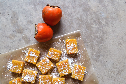 Persimmon-Lemon-Bars