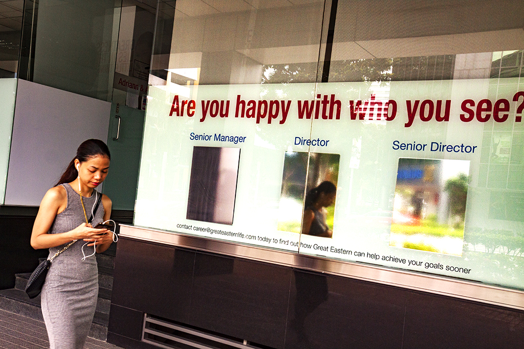 Are you happy with who you see--Singapore