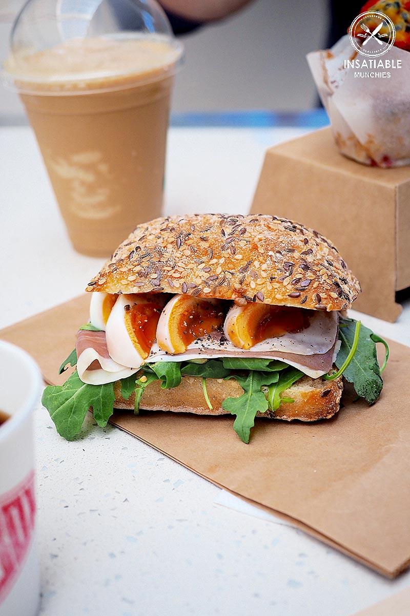 Prosciuto and Egg Sandwich, Coffee Box Espresso, Darling Harbour: Sydney Food Blog Review