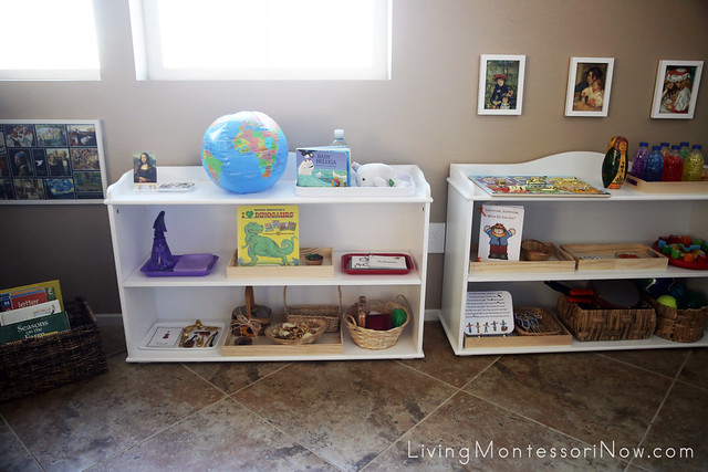 Montessori Shelves for a 2 Year Old in the Living Room