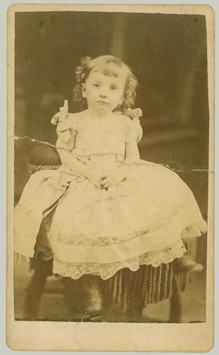 CDV Girl on a chair