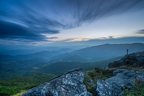 longexposure blue sunset mountains hiking northcarolina ridges roanmountain grassyridge ourstate visitnc