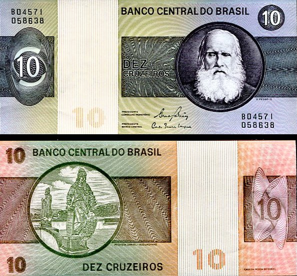 10 Cruzeiros Brazília 1980, P193e