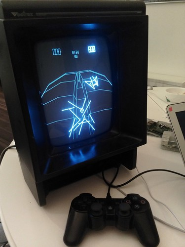 MAME emulating a Vectrex, displayed on a Vectrex