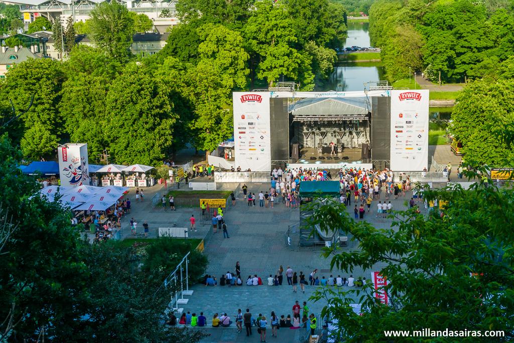Festival JUWenalia en el Agrykola del parque Łazienki