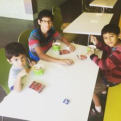Dessert with my boys on 10/30/2016. #FamilyTimes