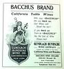 Bacchus- Gundlach Bundschu ad