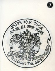 Symbol 7 - Govern your tongue before all over things, following the gods.