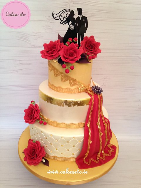 Wedding Cake by Cakes etc