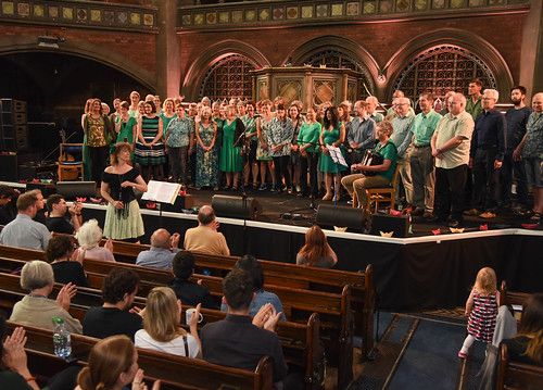 Cecil Sharp House Choir performing at Daylight Music, Union Chapel Islington, 9 July 2016, photo Deena Marcus-Jedamzik