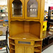 Tall corner oak TV cabinet