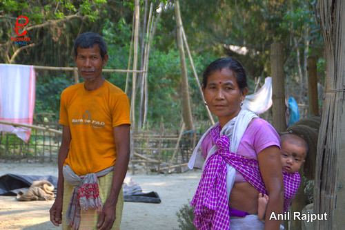 Sonowal Kachari Tribal family, Majuli Island