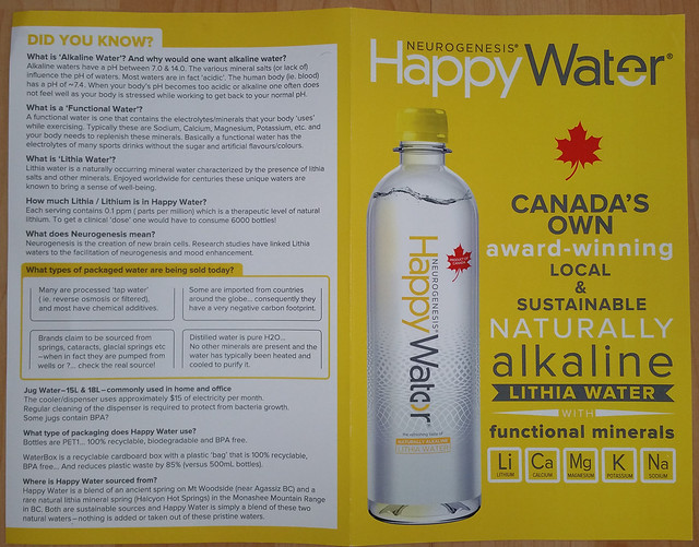 Happy Water info 1 of 2