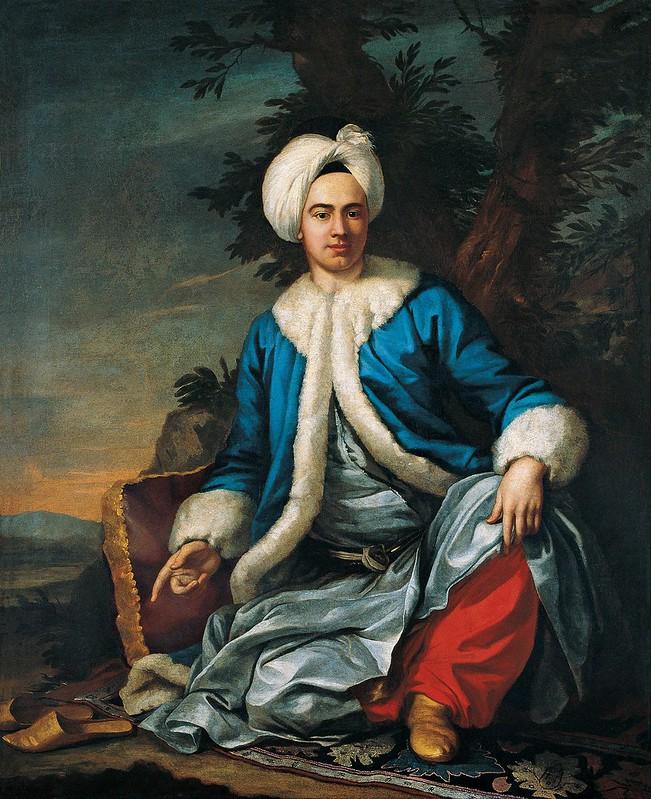 Antoine de Favray - A European in Turkish Costume (c.1762)