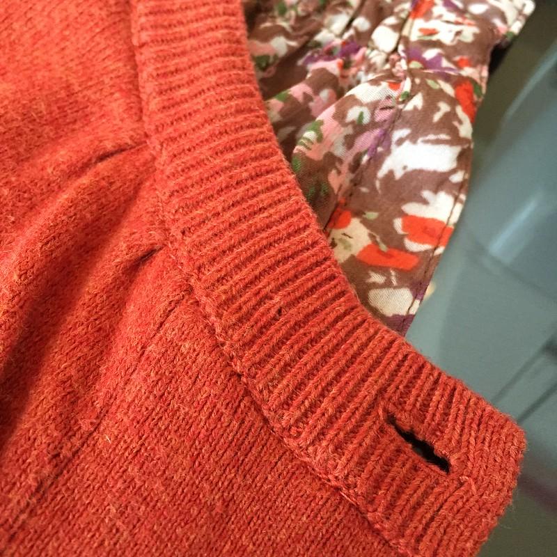 Flowy Fall Flowers Sweater - In Progress