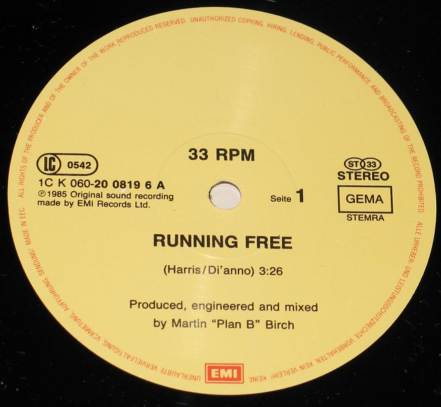 "IRON MAIDEN Running Free Live 12"" Maxi-Single"
