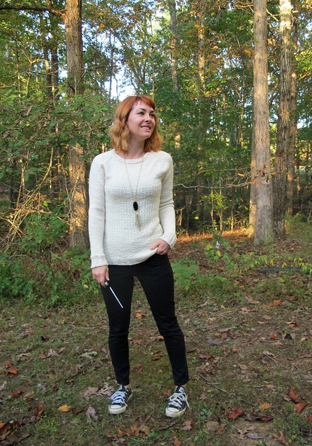White Graphite Sweater - front