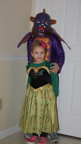 Happy Halloween from Spyro the Skylander, and Princess Anna!
