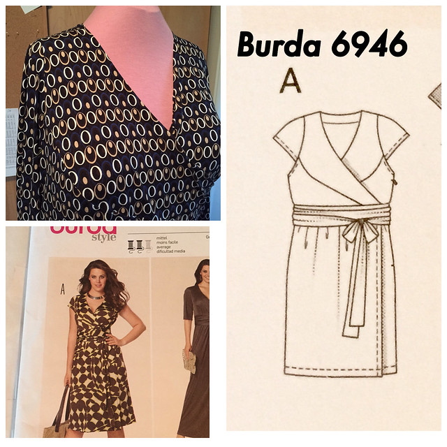 Burda wrap dress