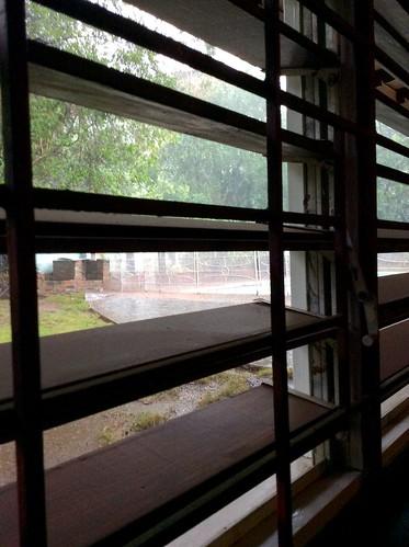 Verandah view rainy morning St. Andrew Jamaica