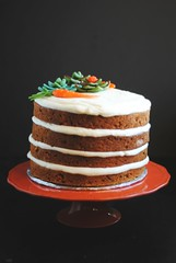 Vegan Carrot Cake + Almond Paste toppers