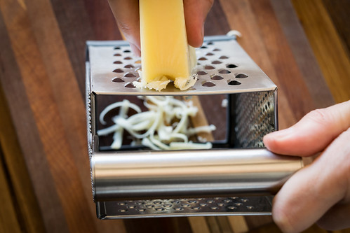 grating emmentaler cheese