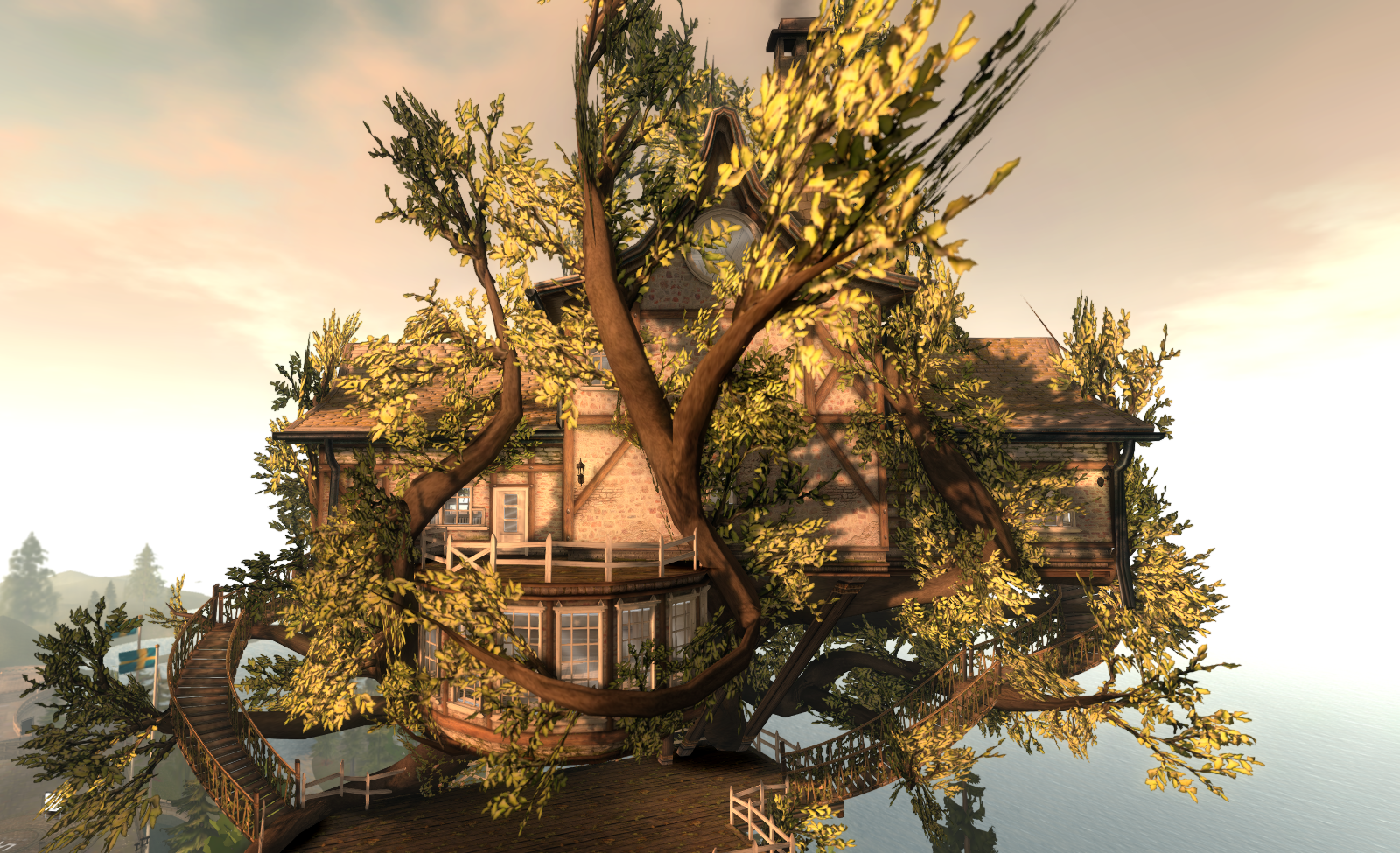 Tree house: another view