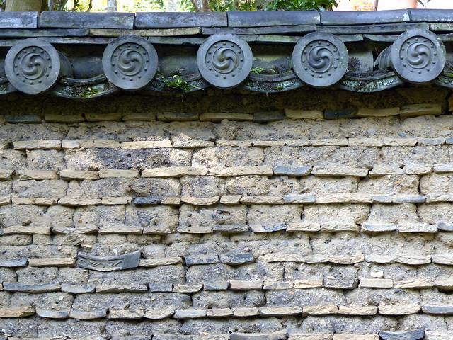 Garden wall, Toshodaiji Temple