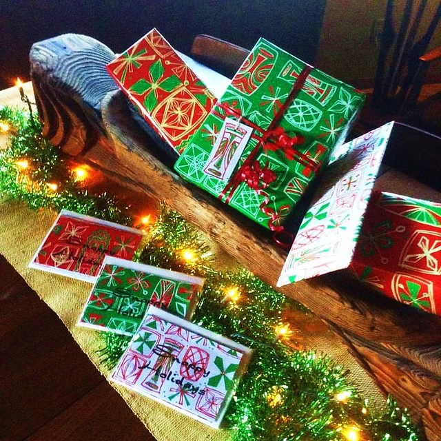 Snappy Holidays cards and gift wrap by Sophista-Tiki
