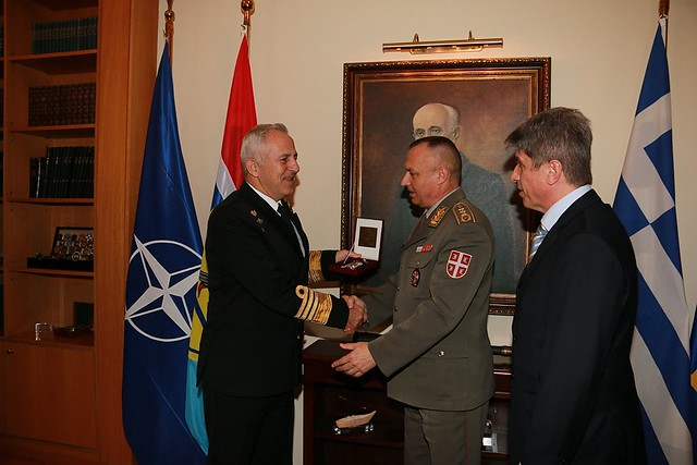 Commander of the Serbian Land Forces visits HNDGS HQs