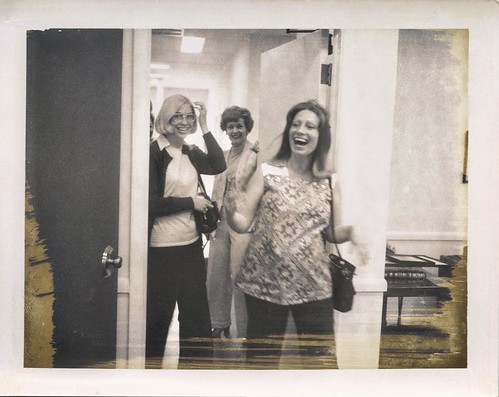Day eleven: Gold #decemberreflections  I can't really put into words how much I love this photo -- I've always been enchanted by the gold bits left from the old 70s-era polaroid pack film, but most of all, I love the overwhelming joy on my mother's face a
