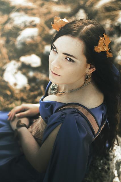 Robe médiévale et corset
