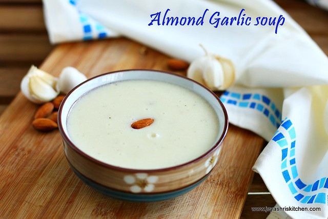 Garlic almond soup