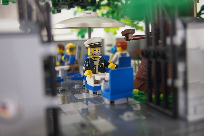 Eiscafé Rialto Captain Norbert waiting for his ice sundae
