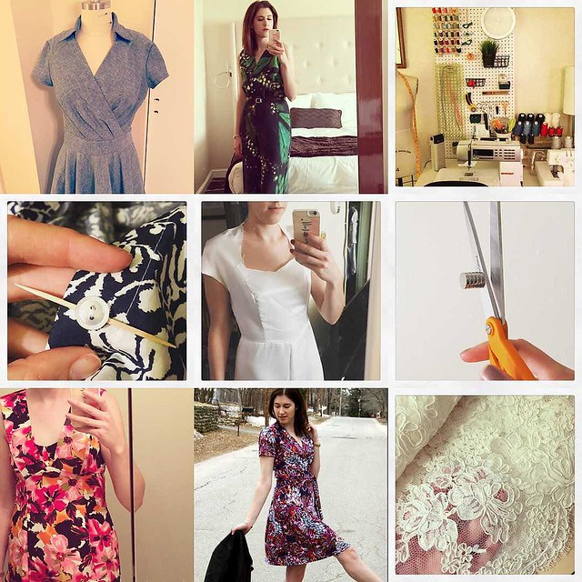 My #2015bestnine featured lots of dress sewing and some fun fabrics